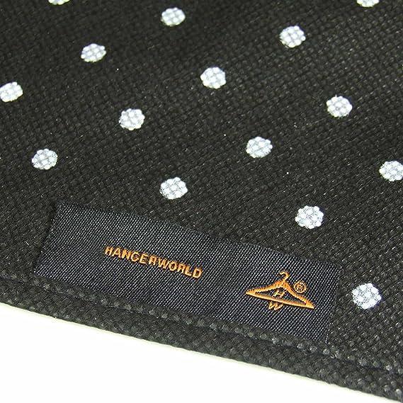 Hangerworld Schwarzes Polkadot Design Reiseset 152cm Kleidersack und 2 Kleiderb/ügeln