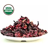 Organic Hibiscus herbal Tea, Fully natural and healthy loose leaf tea contains benefits of Hibiscus – 4 OZ