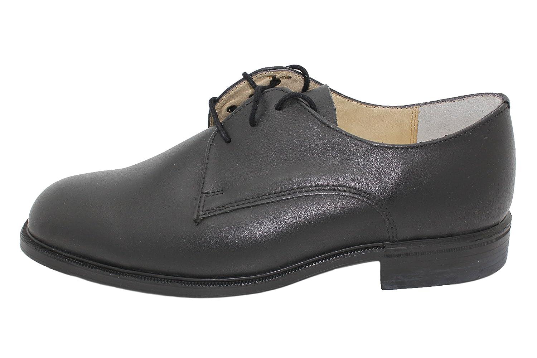 VIZ-UK WEAR Echte DEUTSCHE Army Schwarz Soft Echt Leder Casual Formale Büro Hochzeit Schuhe, Schwarz - Schwarz - Größe: 42