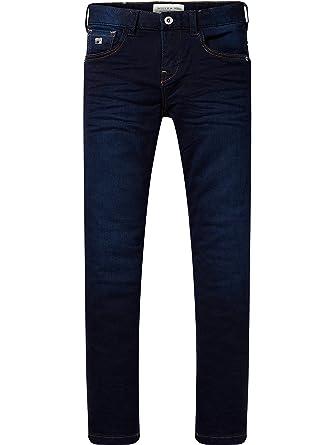 Scotch&Soda Shrunk Strummer Sweat Denim-Dark Indigo, Jeans Gar?on, (Dark Indigo 0887), 176 (Taille Fabricant: 16)