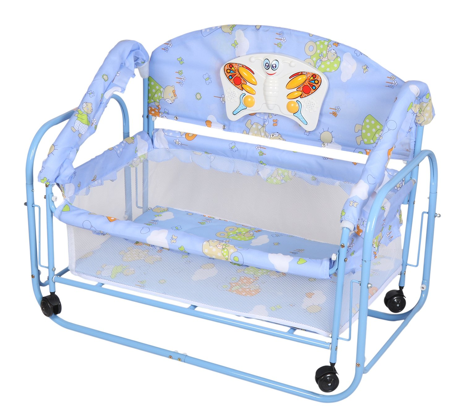 Tiffy & Toffee Baby Princess Cradle Cum Bed (Blue)