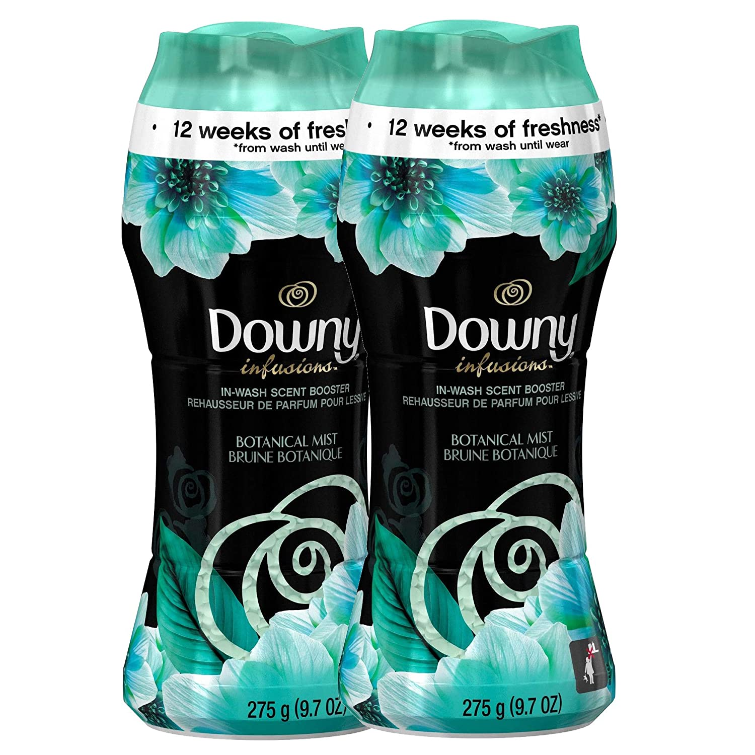 Downy Infusions in Wash Scent Booster Beads - Botanical Mist 9.7 oz. (Pack of 2)