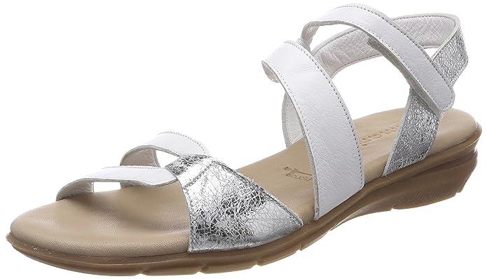 1dc2f6c70 $18.61 — $109.82 Tamaris Women's Pepa 28711 Sandal, White/Silver, 40 Medium  EU (9-9.5 US)