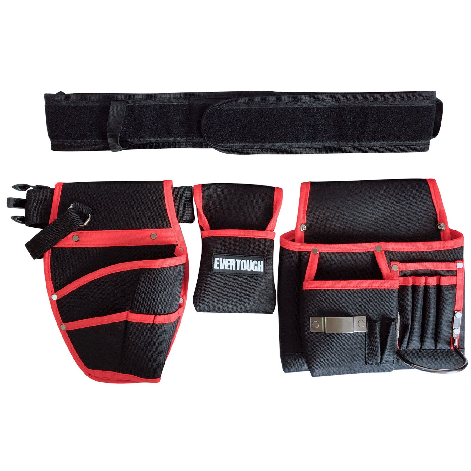 Heavy-Duty Drill Holster Cordless Tool Holder, Professional Carpenter's Combo Belt & Bags, Durable Electrical Maintenance Tool Pouch Work Belt with Adjustable Waist Strap