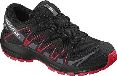 Salomon Kinder XA Pro 3D CSWP J, Trailrunning Schuhe, Wasserdicht, Schwarz (BlackBlackHigh Risk Red), Größe 37 0ZGVd
