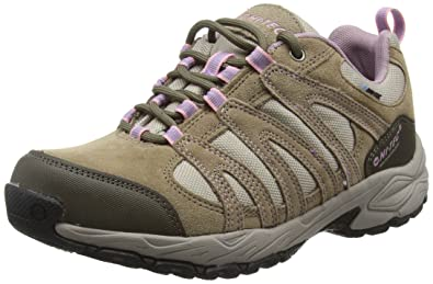 Hi-Tec Alto II Low Waterproof, Chaussures de Randonnée Basses Femme, Beige (Light Taupe/Grey/Horizon), 40 EU
