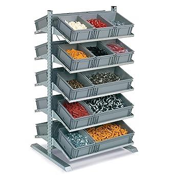 Disset Odiseo FLCA1730152 Estantería Soporte Slick para Cajas, 10 Estantes de 420 mm de Profundidad
