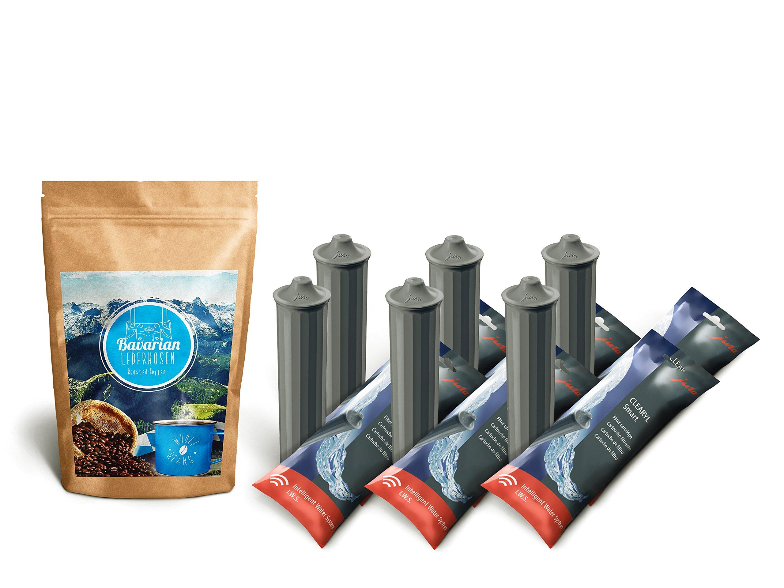 Bavarian Lederhosen Whole Beans Coffee 8.8 oz & 6 Jura Clearyl/Claris Smart Filter Cartridges