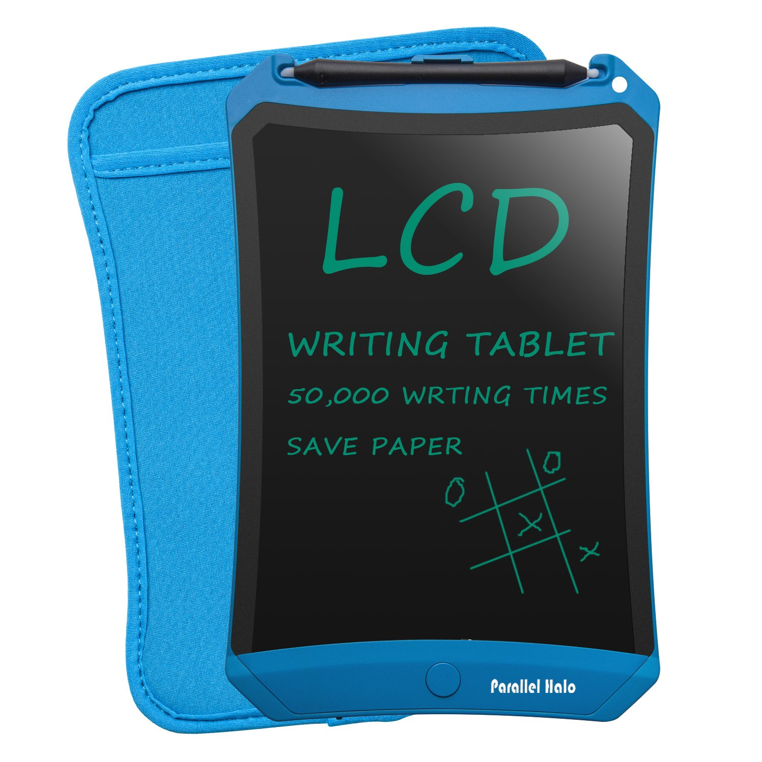 Parallel Halo 8.5 Inch LCD Writing tablet-Electronic Writing Board Doodle Board Drawing Board Erasable Black Chalkboard Sticky Notes Office Memo Pads