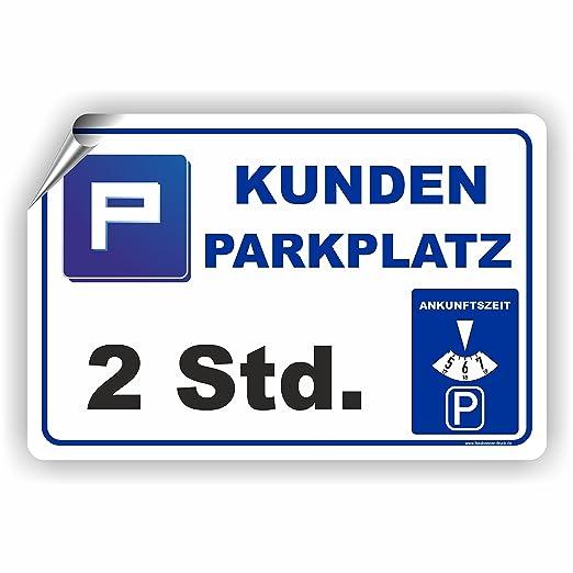 Fassbender-Druck SCHILDER Clientes Aparcamiento ...