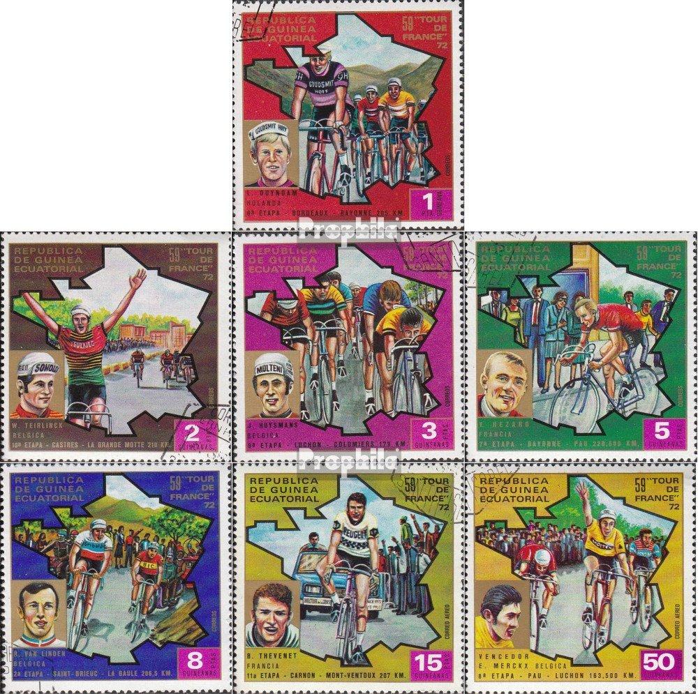 Prophila Collection /Äquatorialguinea 259-265 biciclette completa Edizione 1973 Tour de Francia Francobolli per i collezionisti