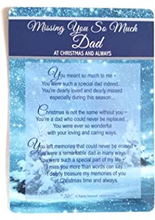 Loving Memory Christmas Graveside Memorial Card Missing You Dad 6