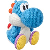 Light Blue Yarn Yoshi amiibo - Wii U Yoshi's Woolly World Edition
