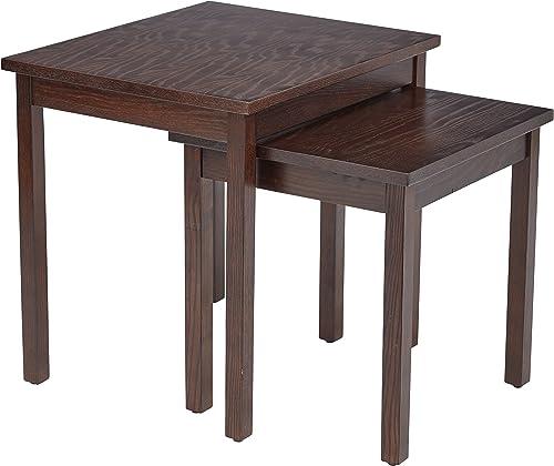 OSP Home Furnishings AVE SIX Main Street Nesting Side Tables, Espresso