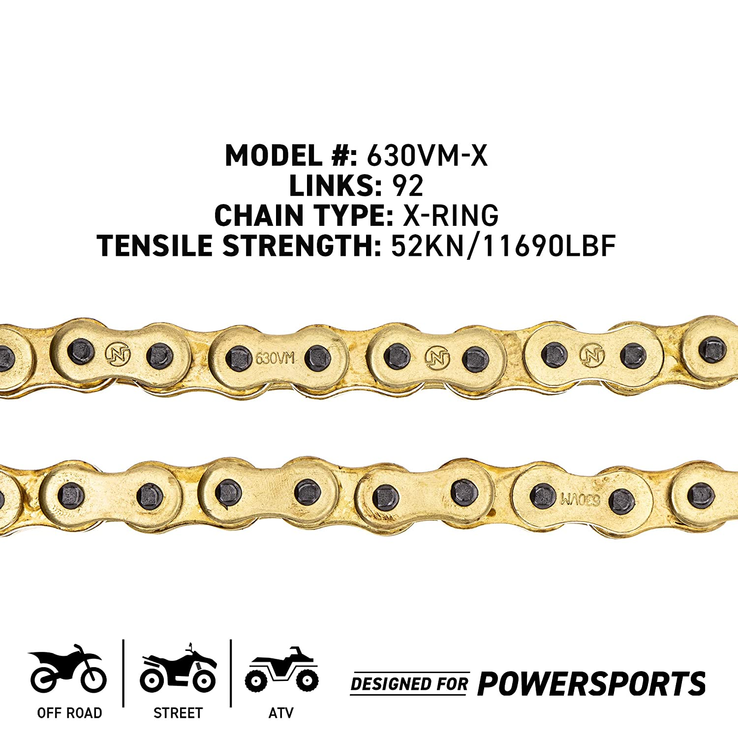 Niche Gold 630 X-Ring Chain 96 Links With Connecting Master Link