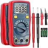 AstroAI Multímetro digital, voltímetro 1,5 V/9 V/12 V, testador de tensão da bateria, alcance automático/ohmmeter/DMM com fun