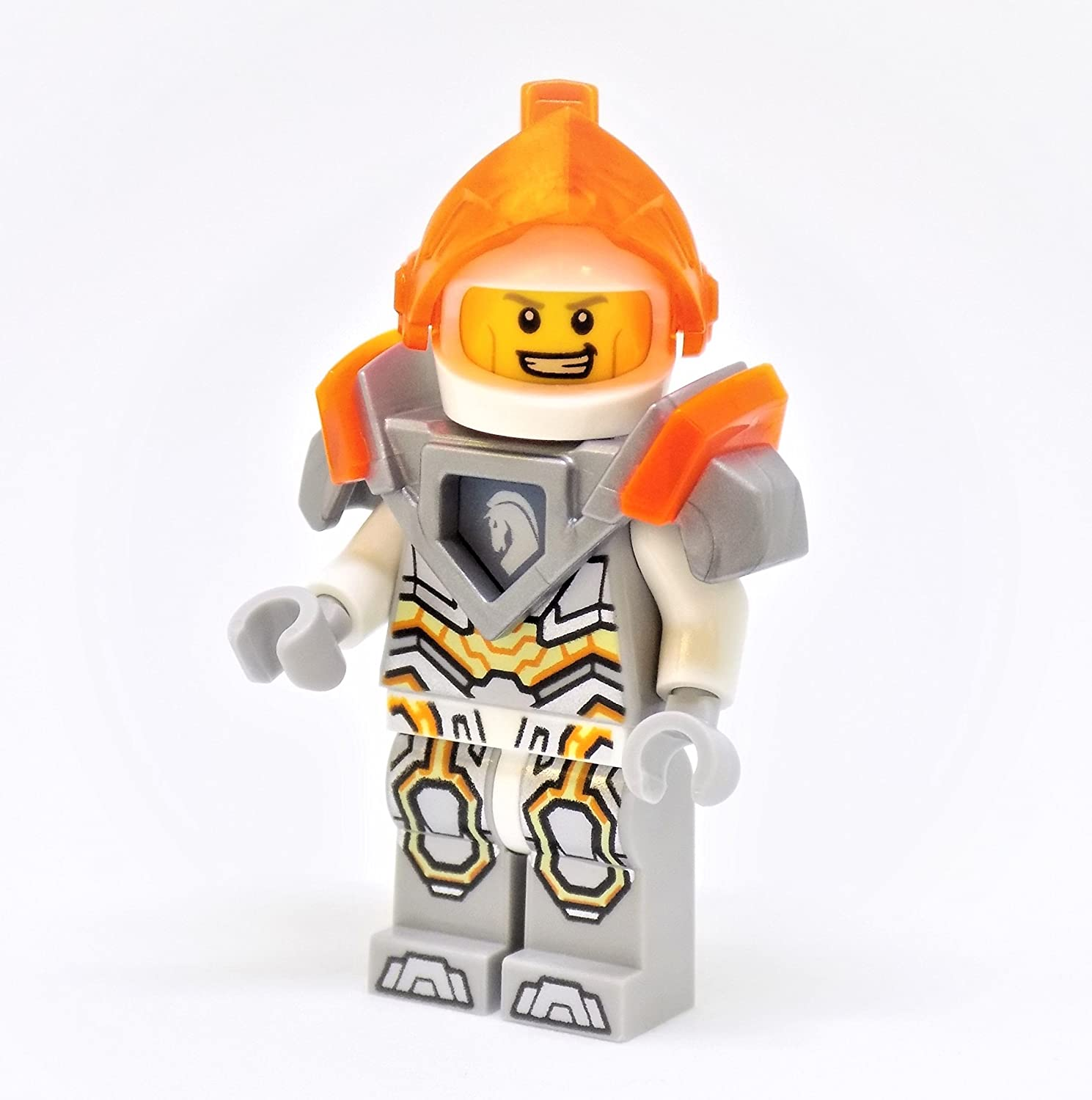LEGO Nexo Knights Lance with Transparent Neon-Orange Visor Minifigure
