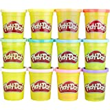 Play-Doh 12 Pack Case Non-Toxic Modeling Compound, 4-Ounce Cans 12 Pack Spring Colors