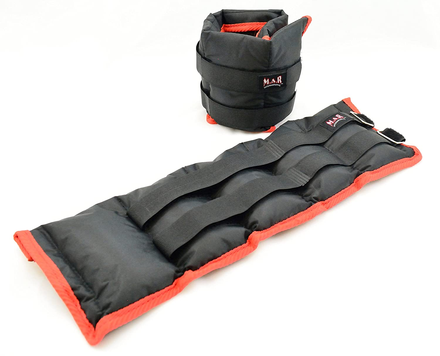 Ankle, Wrist Weights (2x 2= 4Kg) are ideal for adding extra resistance to your workout. It is made from nylon material with an adjustable Velcro strap. Fits easily around wrists or ankles. Great for building strength and speed in arms and legs. Excellent f