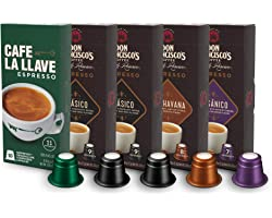 Don Francisco's & Cafe La Llave Espresso Capsules Variety Pack 10 Each, Recyclable Coffee Pods (50 Count) Compatible with Nes