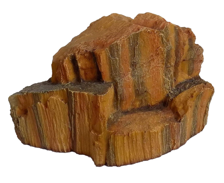ALL LIVING THINGS Medium Red Rock Reptile Ornament Terrarium Decor (11 x 6 x 8 inches)
