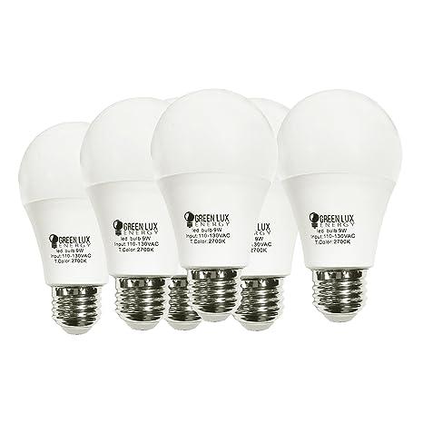 Suave color blanco GLE LED A19 - 60- W equivalente (9 W ...