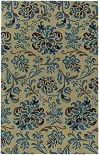 product image for Capel Rugs Monaco Rectangle Hand Tufted Area Rug, 5 x 8, Opal Azul