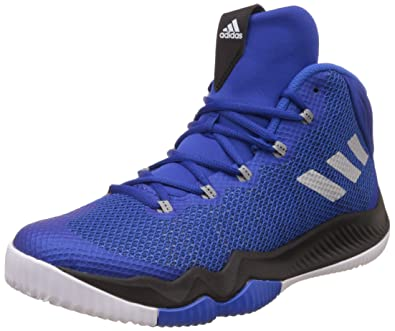 new product dc1ee cc877 Adidas Mens Crazy Hustle Croyal, Silvmt and Blue Basketball Shoes - 12  UKIndia