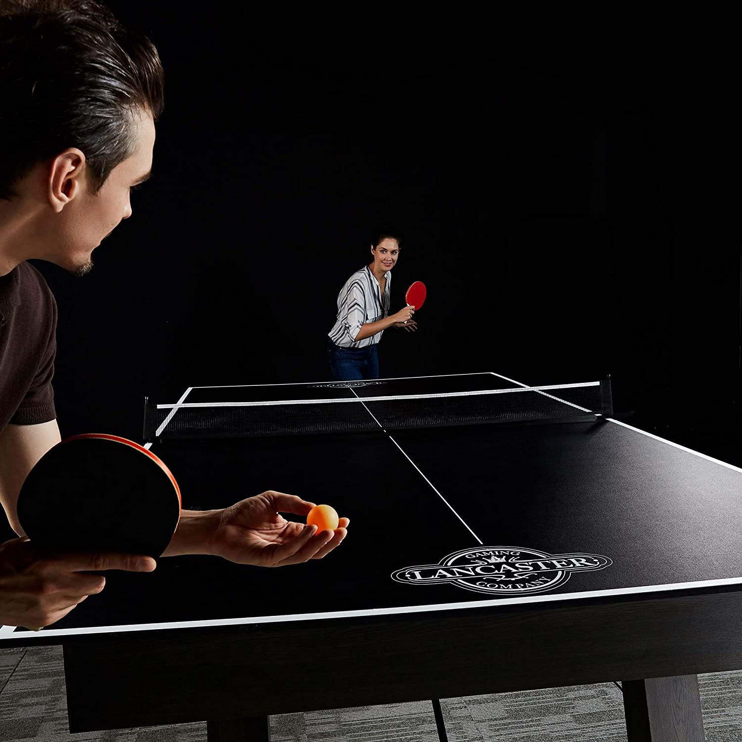 Lancaster Foldable Indoor Table Top Tennis Set