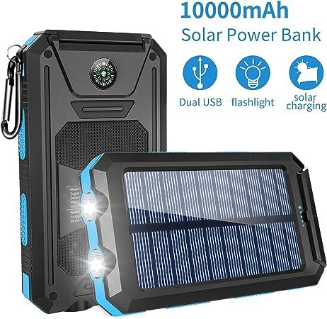 Amazon.com: Ayyie Cargador solar, banco de energía solar ...