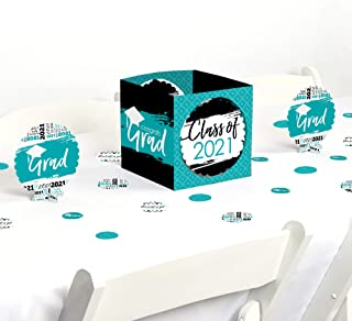 product image for Big Dot of Happiness Teal Grad - Best is Yet to Come - Turquoise 2021 Graduation Party Centerpiece & Table Decoration Kit