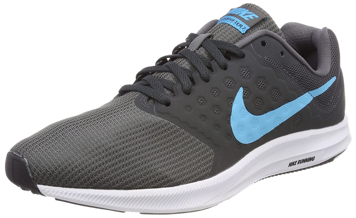 6dfb2ff96a6 Nike Men s Downshifter 7 Gry Blu-Anth-Blk Running Shoes-7 UK India (40 EU)  (852459-011)  Buy Online at Low Prices in India - Amazon.in