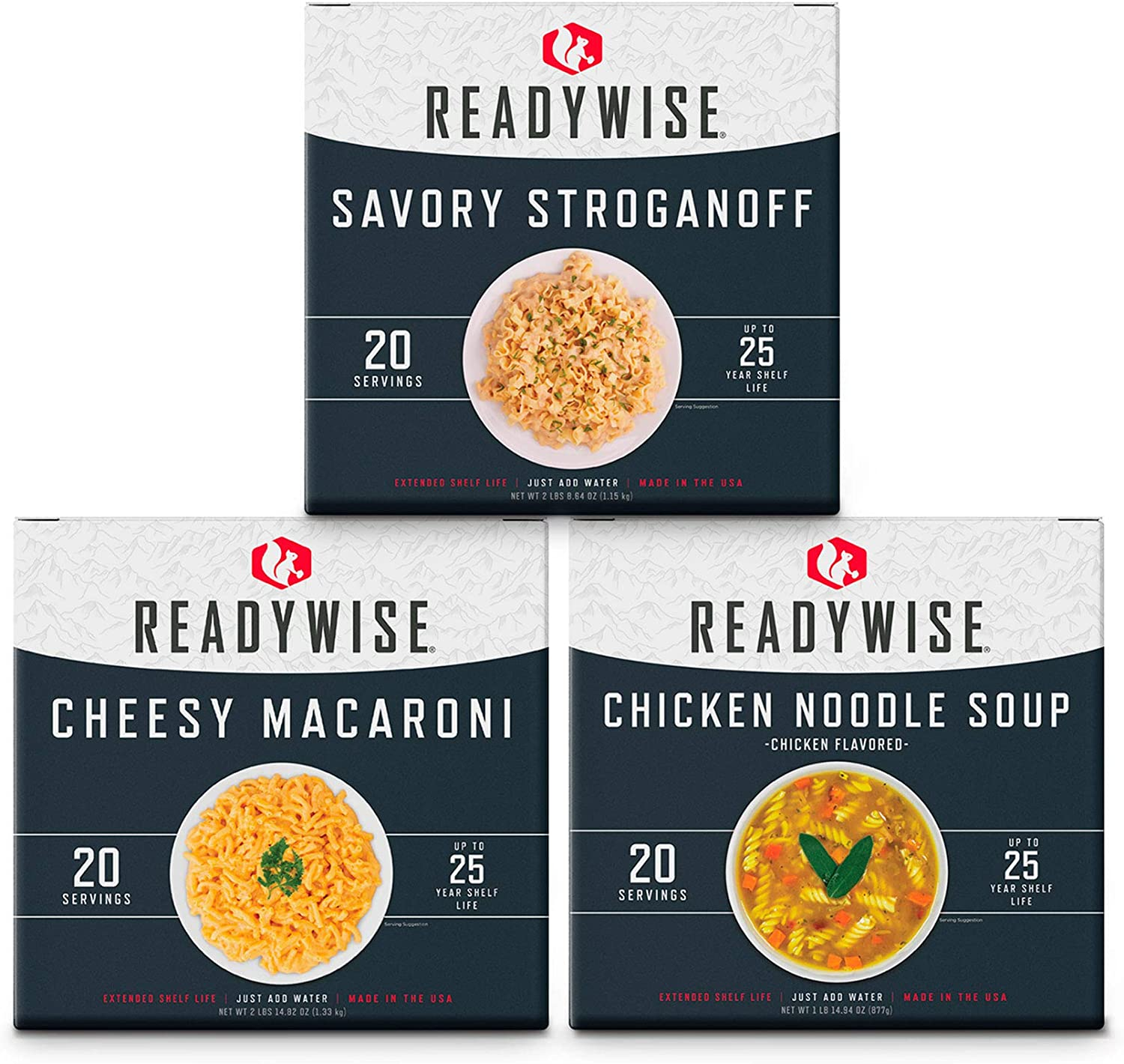 ReadyWise Emergency Food Entree Box Kit | 60 Servings