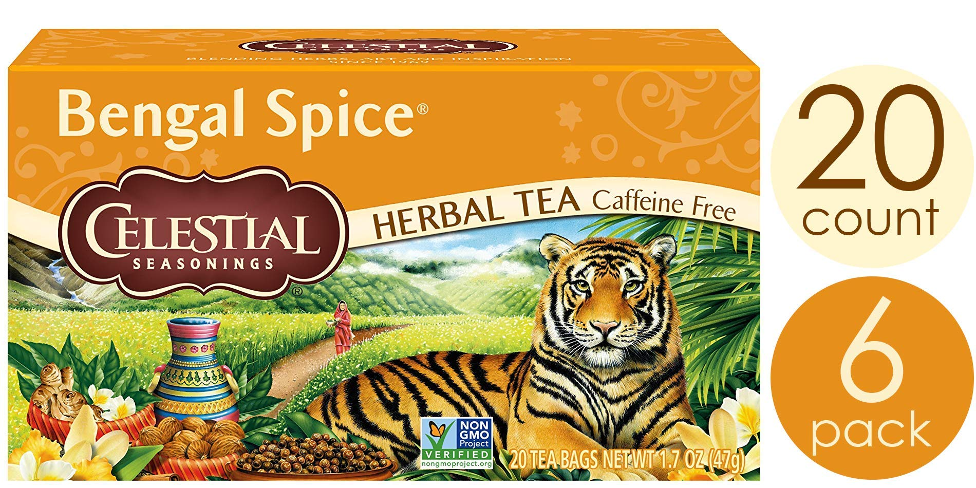 Celestial Seasonings Herbal Tea, Bengal Spice, 20 Count (Pack of 6) by Celestial Seasonings