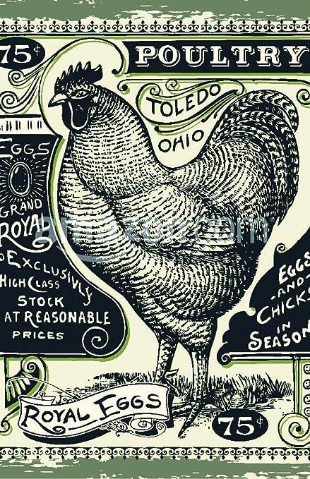 Vintage pizarra carnicero corte de pollo carne de vacuno ...