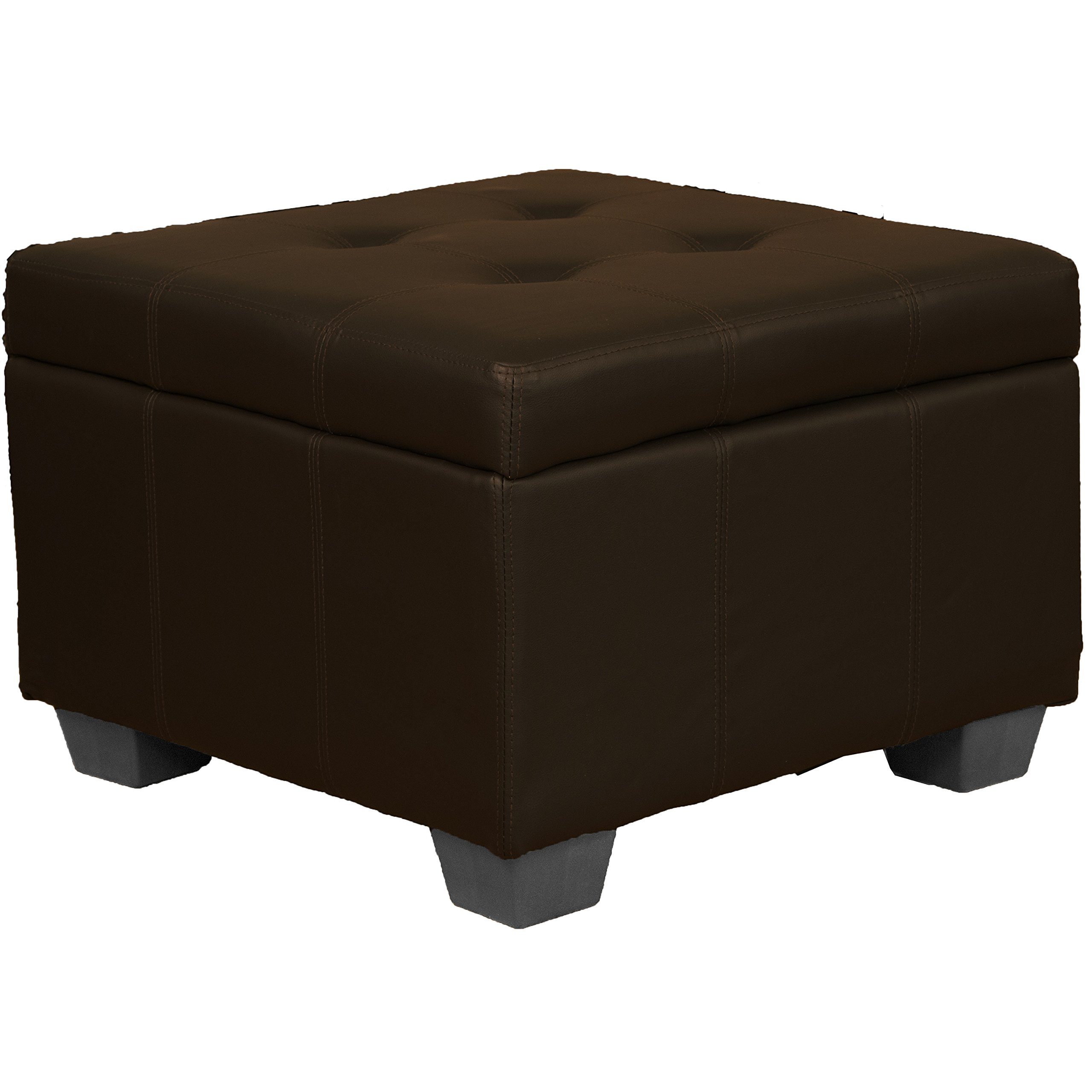 24 Quot X 24 Quot X 18 Quot High Tufted Padded Hinged Storage Ottoman