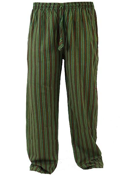 Guru-Shop, Pantalones de Yoga, Goa Pantalones, Algodón, Pantalones Para Hombres