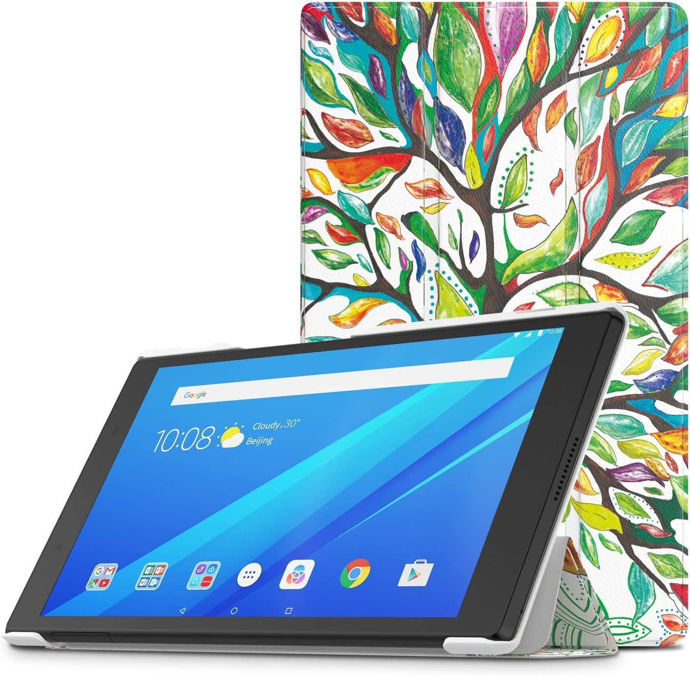 """TiMOVO Cover Compatible for Lenovo Tab 4 8"""" Case - Light Weight Slim Case with Magnetic Cover Fit Lenovo Tab 4 8 Inch HD Tablet 2017 Release, Lucky Tree"""