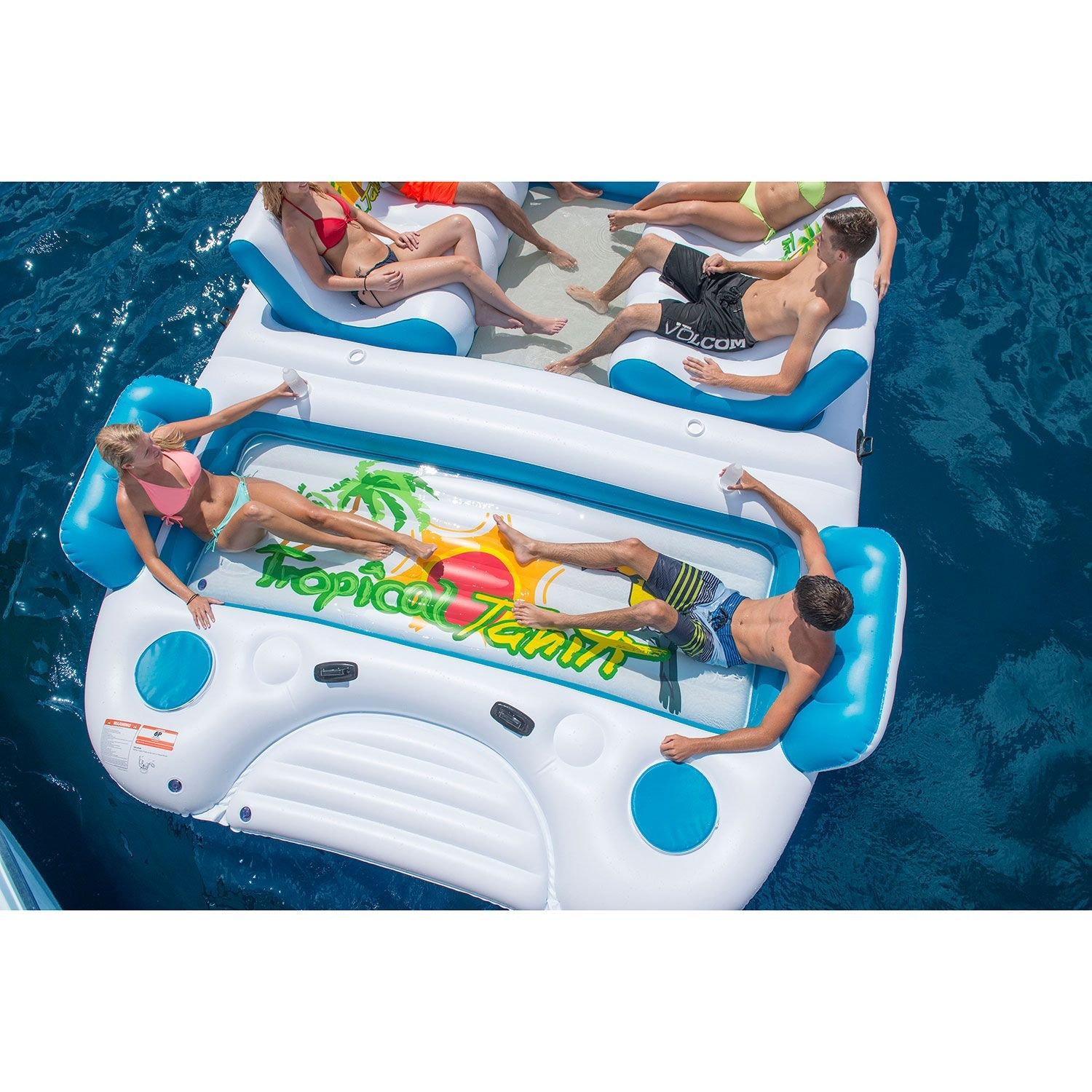 Bestway Coolerz X5 Seven Person Floating Canopy Island Seat -