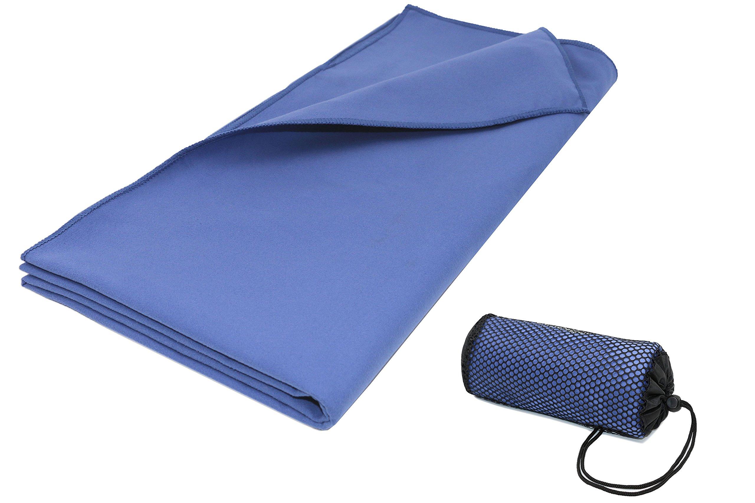 ZOLLNER Toalla de Microfibra Grande 90x180 cm, Azul Marino product image