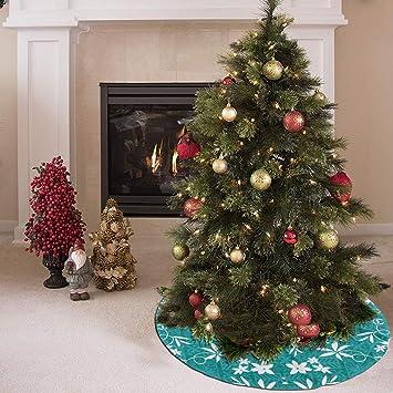 YHDGFO Christmas Tree Skirt with Elvis Teal 150 Fabric (5630),Xmas Tree  Decorations - Amazon.com: YHDGFO Christmas Tree Skirt With Elvis Teal 150 Fabric