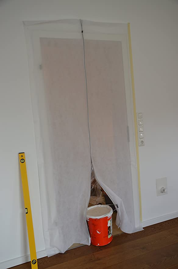 etc. Fieltro baut/ür de Tap/ón Antipolvo de tejido de polipropileno antipolvo Polvo Protecci/ón para puerta 1,10/x 2,20/m para renovierungen /& umbauten Blanco PP
