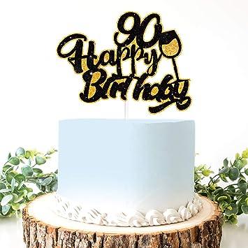 AERZETIX Decoración de cumpleaños para Tarta de 90º ...