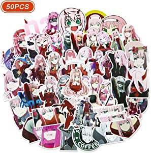 Darling in The FranXX 02 Stickers Anime Stickers for Laptop Zero Two Sticker 50 PCS