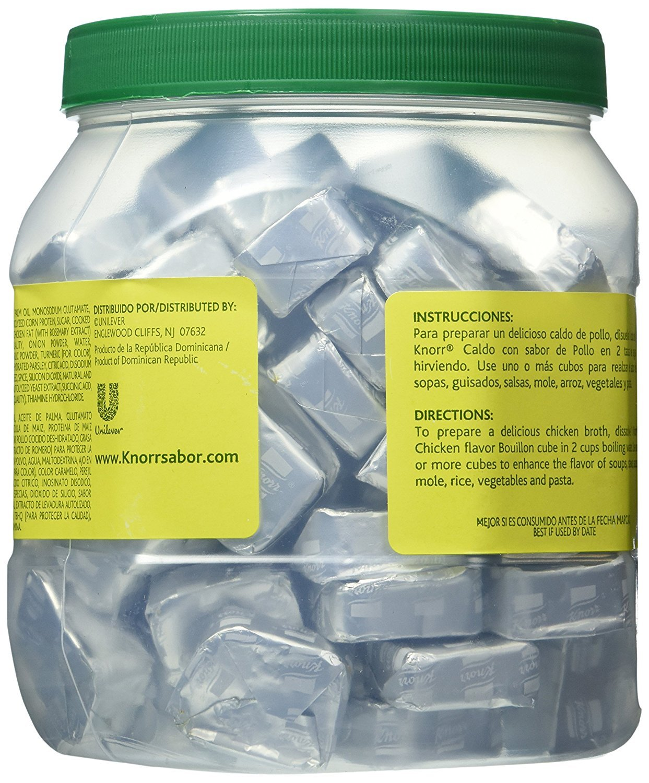 Amazon.com : Knorr Bouillon Caldo Con Sabor De Pollo 112 Cubes Chicken Flavor 2.7lb : Grocery & Gourmet Food