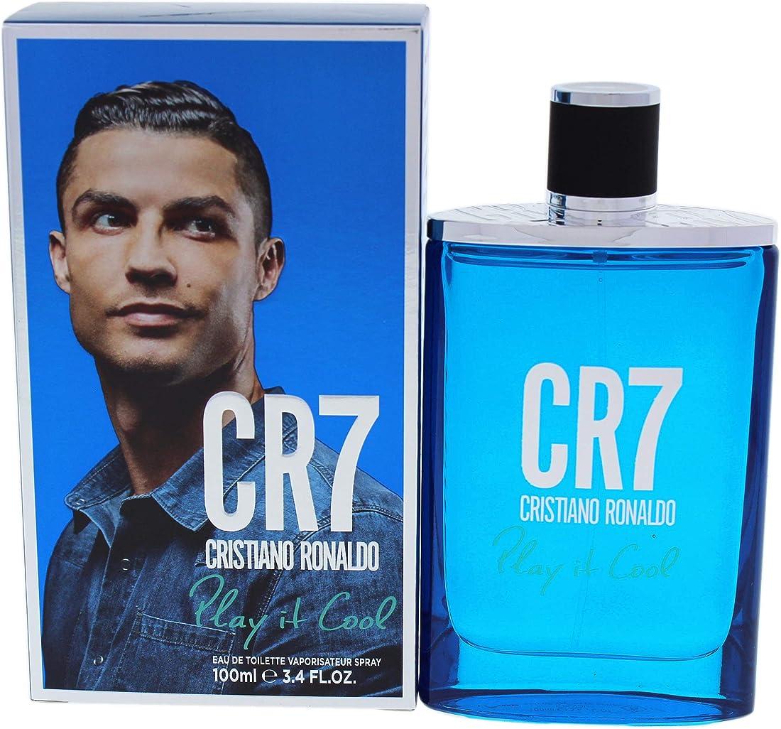Profumo cristiano ronaldo cr7  play it cool eau de toilette uomo confezione 100 ml I0095088