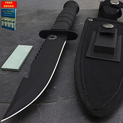 Amazon.com: Cuchillo de supervivencia caza de 10.5