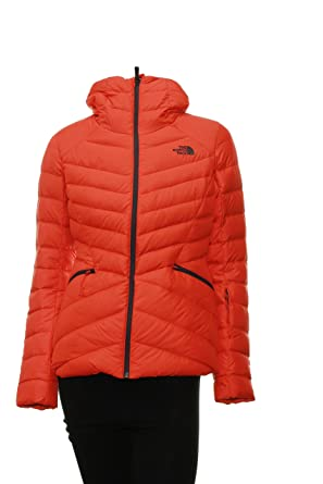 Womens The North Face Moonlight Down Jacket Large Fire Brick Red