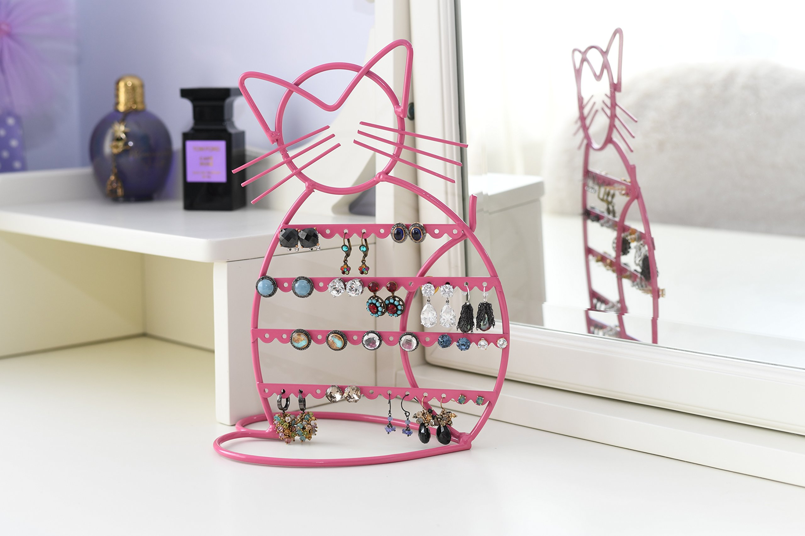 ARAD Metal Jewelry Cat, Holder Organizer-Hanging Jewelry Display Earrings & Other Piercings by ARAD (Image #9)