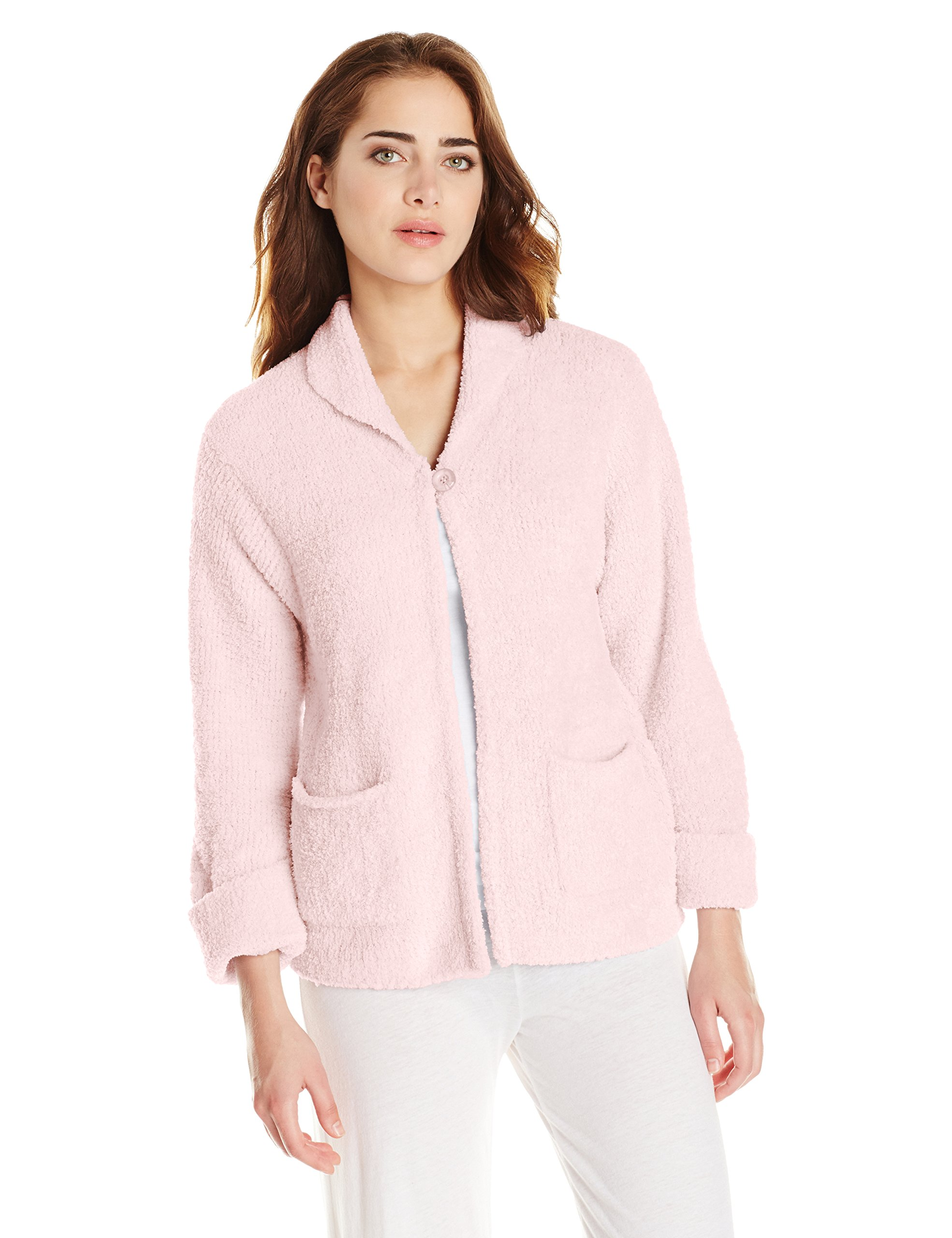 Casual Moments Women's Bed Jacket, Pink, Large